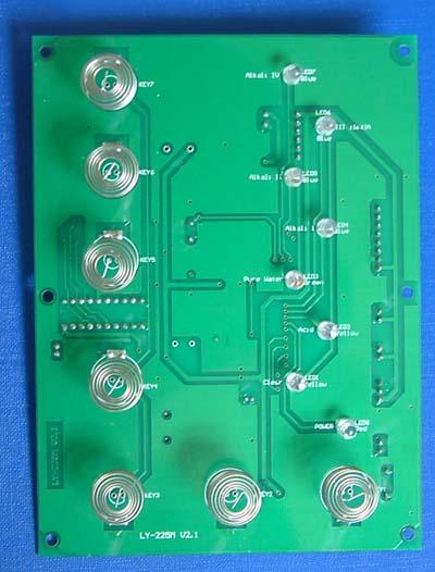 电容式触摸感应按键板外观图
